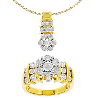 DIAMONESCENCE Parure Flocons Diamants