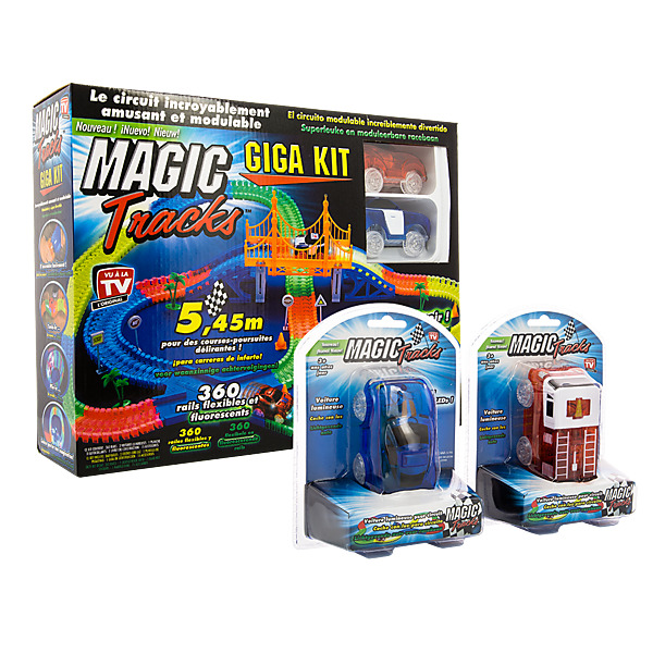 video MAGIC TRACKS GIGA SET+ 2 VOITURES - Circuit de Voitures