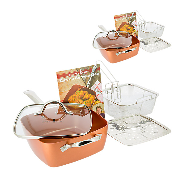 COPPER CHEF X2 - Poêle Antiadhésive Set de 5