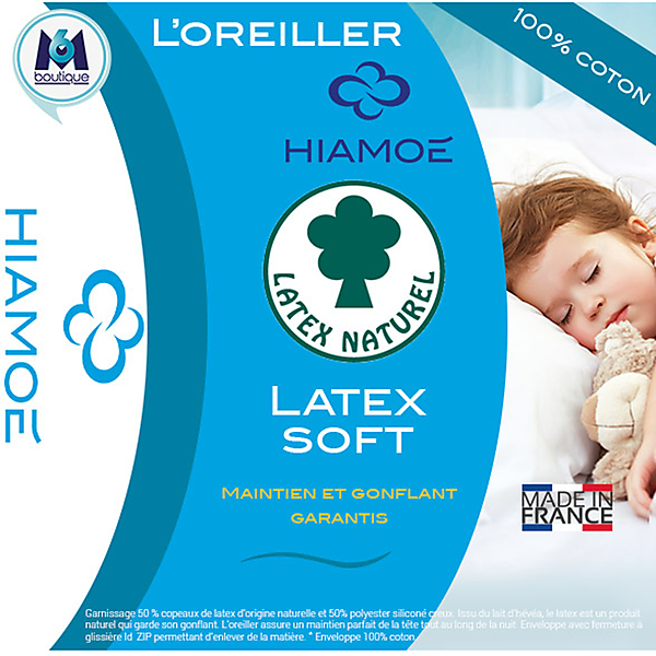 HIAMOE - Oreillers Latexsoft lot de 2