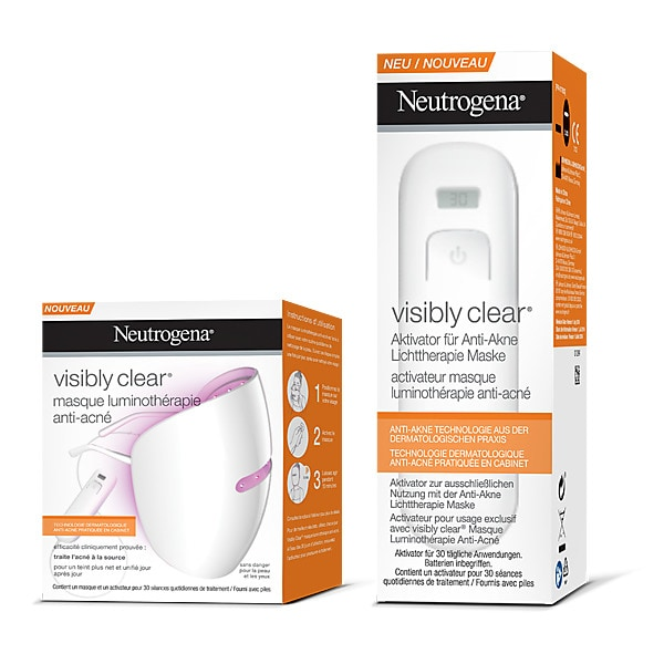 NEUTROGENA Masque Visibly Clear + Activateur- Luminothérapie