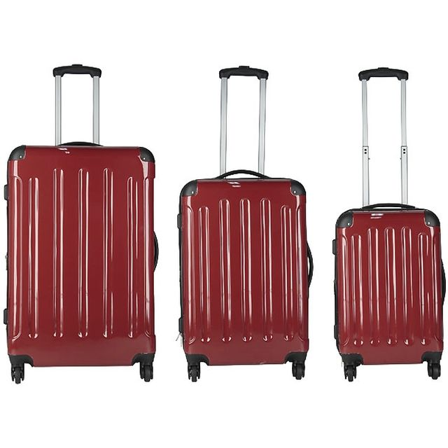 VALISES NOUVELLE GENERATION ROUGE - Lot de 3