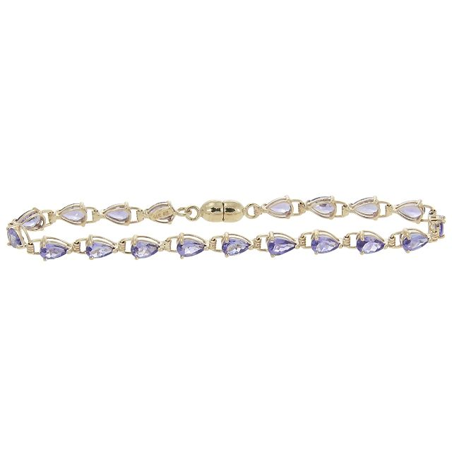 video IVENS Bracelet Or Tanzanites 10.9 carats