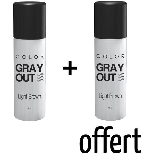 GRAY OUT X2 - Spray Colorant pour Cheveux Chatain Clair